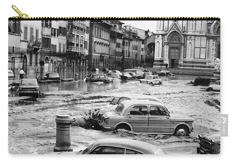 1966 Carry-all Pouch featuring the photograph Florence: Flood, 1966 by Granger
