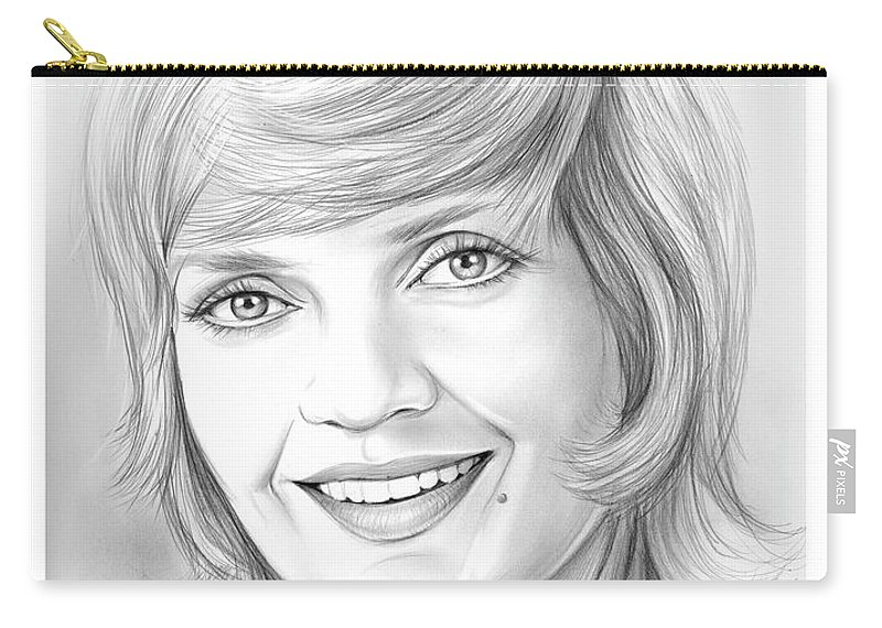 Florence Henderson Carry-all Pouch featuring the drawing Florence Henderson by Greg Joens