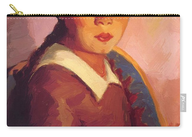 Florencia Carry-all Pouch featuring the painting Florencia 1917 by Henri Robert