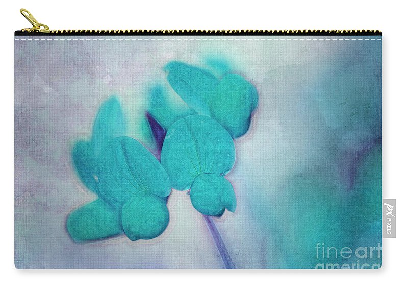 Floral Carry-all Pouch featuring the digital art Florentina - At3v3b by Variance Collections