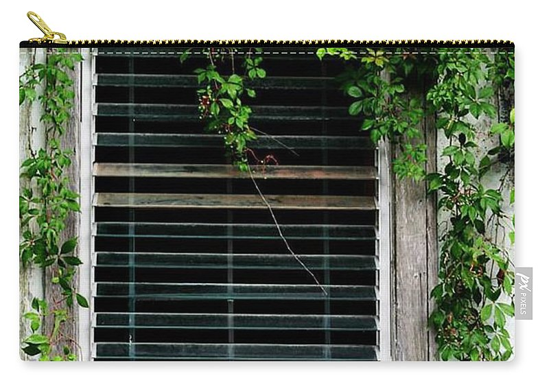 Old Window Carry-all Pouch featuring the photograph Florida A/c by Pattie Frost
