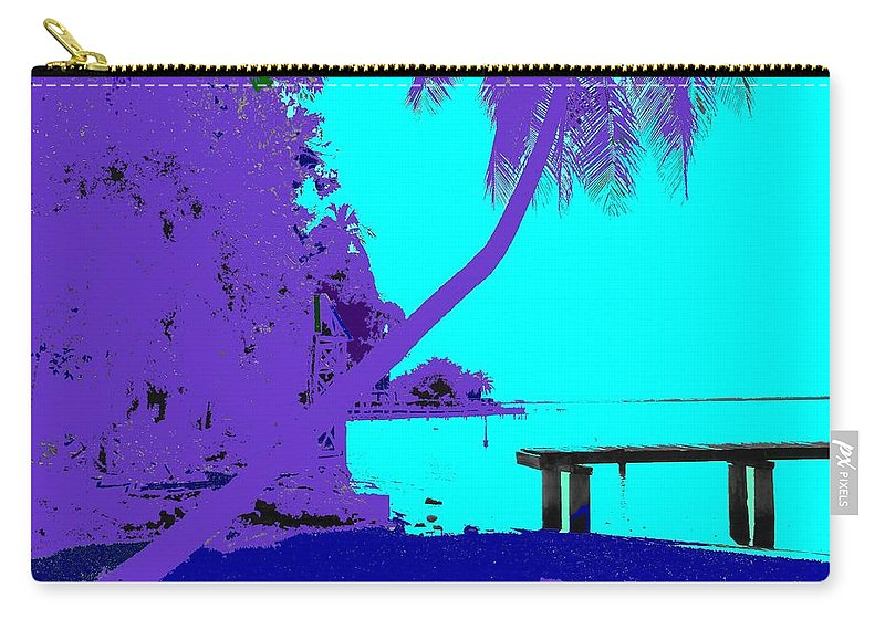 Edison Carry-all Pouch featuring the photograph Florida Blues by Ian MacDonald