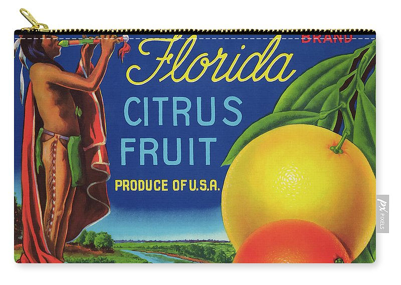 Fruit Carry-all Pouch featuring the photograph Florida Eureka Citrus Fruit Crate Label by Daniel Hagerman