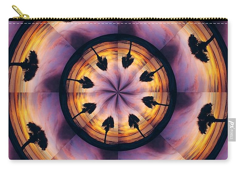 Kaliedoscope Carry-all Pouch featuring the digital art Florida Fun by Peg Urban