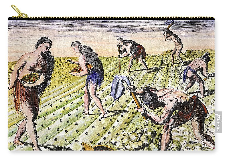 1591 Carry-all Pouch featuring the photograph Florida Natives, 1591 by Granger