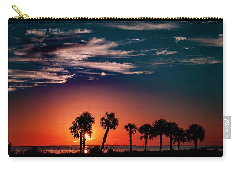 Palms Carry-all Pouch featuring the photograph Florida Palms by Kevin Esterline