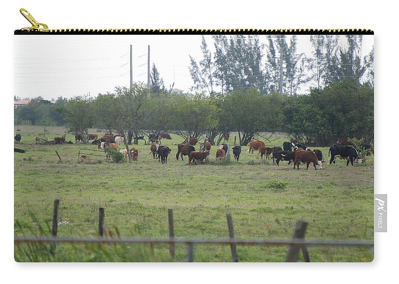 Trees Carry-all Pouch featuring the photograph Florida Ranch by Rob Hans