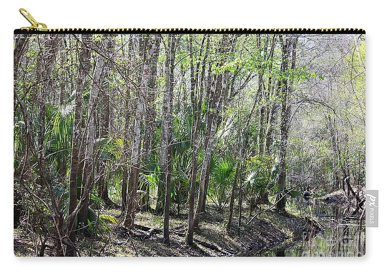 Florida Landscape Carry-all Pouch featuring the photograph Florida Riverbank by Carol Groenen