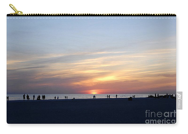 Florida Carry-all Pouch featuring the photograph Florida Sunset by David Lee Thompson