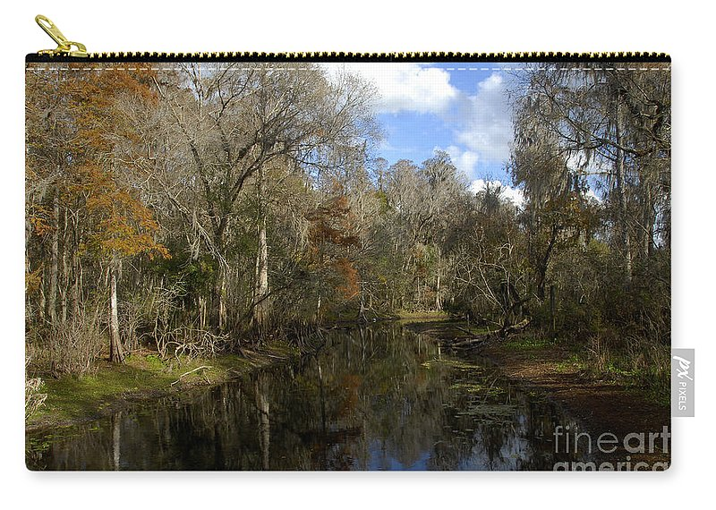 Wetlands Carry-all Pouch featuring the photograph Florida Wetlands by David Lee Thompson