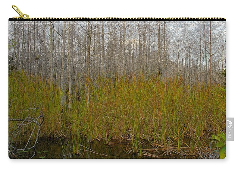 Florida Carry-all Pouch featuring the painting Florida Wilderness by David Lee Thompson