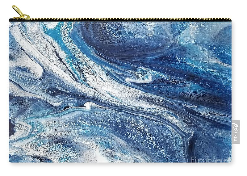 Acrylic Carry-all Pouch featuring the painting Flow 002 by Nicole Chambers