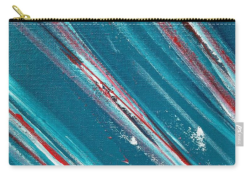 Flow Carry-all Pouch featuring the painting Flow by Anneke Van Opstal