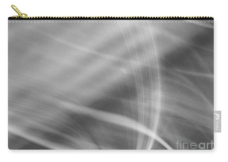 Abstract Carry-all Pouch featuring the photograph Flow In Black by Dorothy Hilde