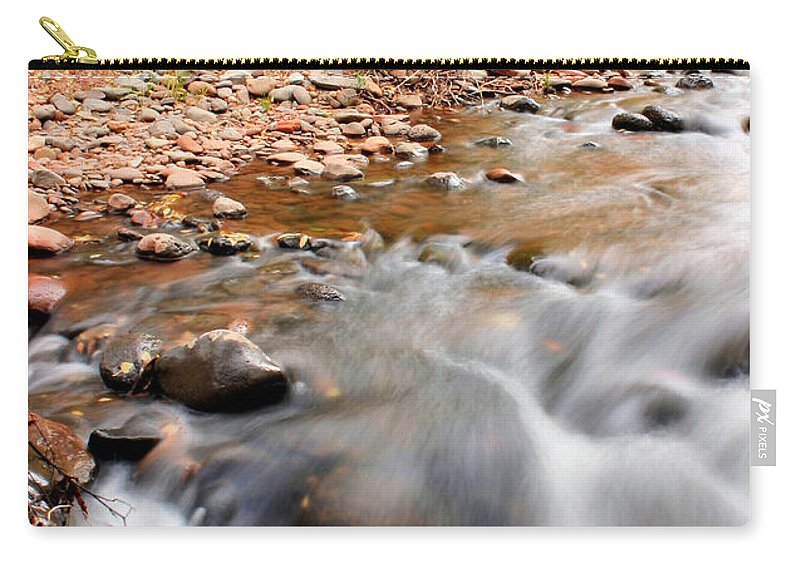 Sedona Carry-all Pouch featuring the photograph Flow In Sedona by Kristin Elmquist