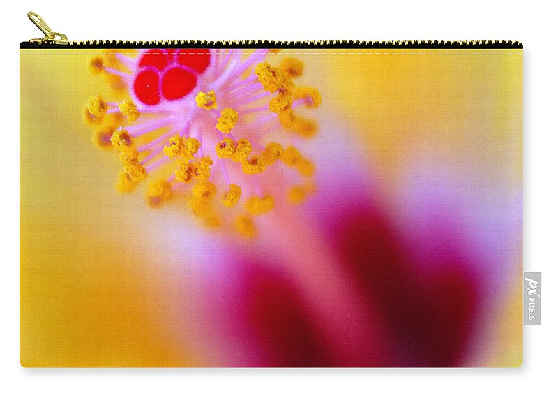 Flower Carry-all Pouch featuring the photograph Flower - Stamen 2 by Jill Reger