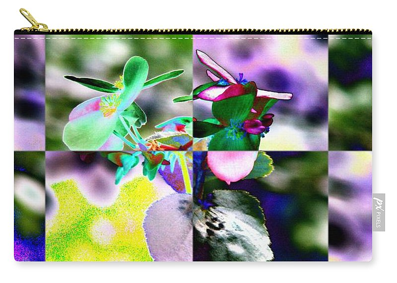 Flower Carry-all Pouch featuring the digital art Flower 2 by Tim Allen