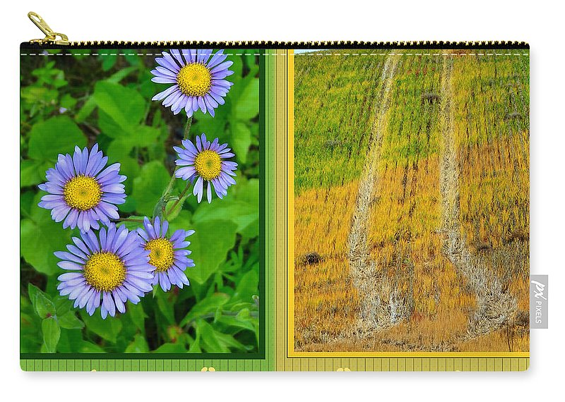 Flower And Fields Carry-all Pouch featuring the photograph Flower And Fields by Martin Brockhaus