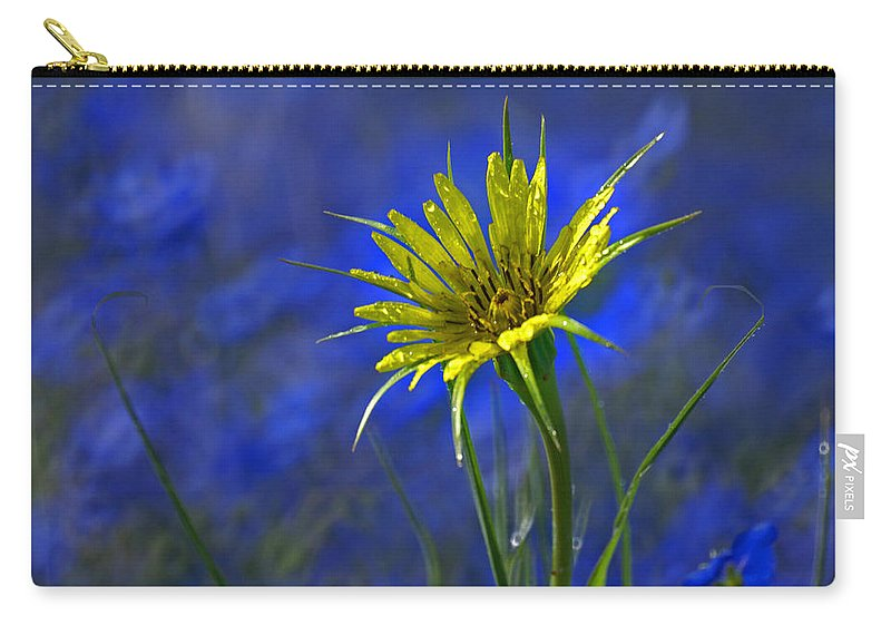 Flower Carry-all Pouch featuring the photograph Flower And Flax by Heather Coen