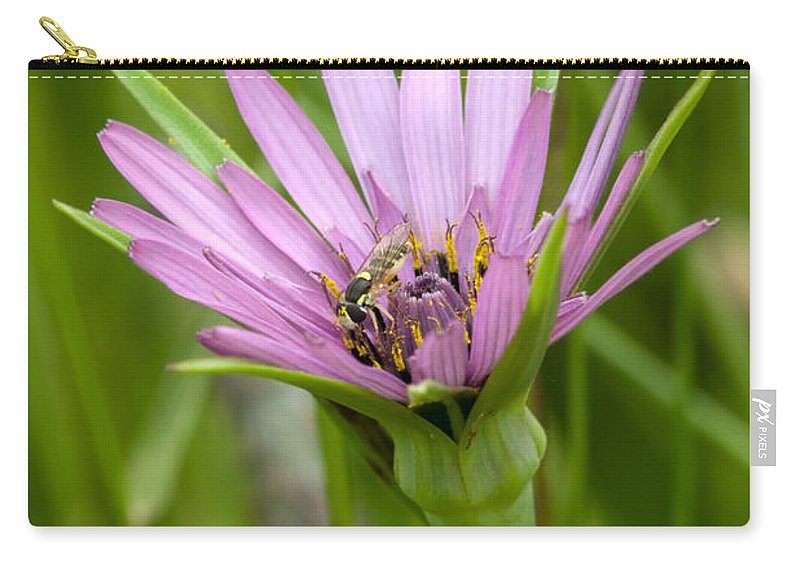 Floral Carry-all Pouch featuring the photograph Flower And Friend by Randall Ingalls