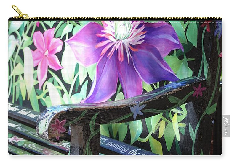 Macro Carry-all Pouch featuring the photograph Flower Bench by Rob Hans
