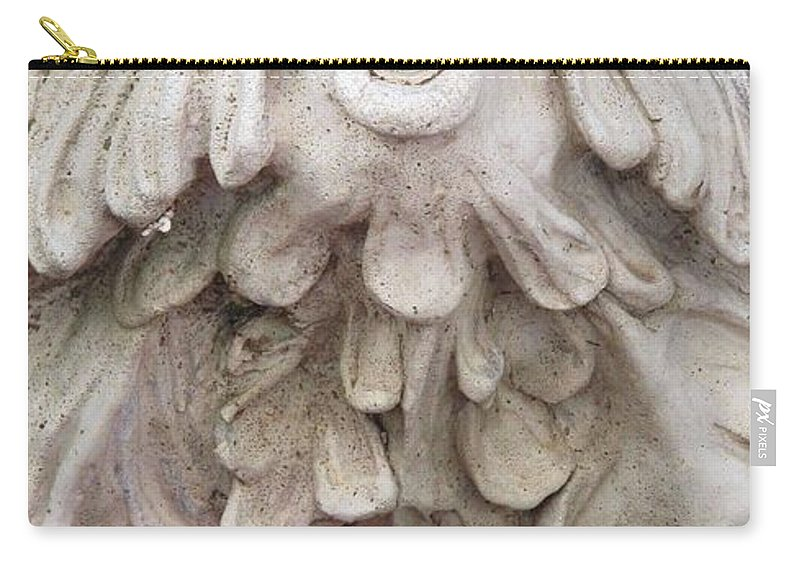 Statue Carry-all Pouch featuring the photograph Flower Blower by Ian MacDonald