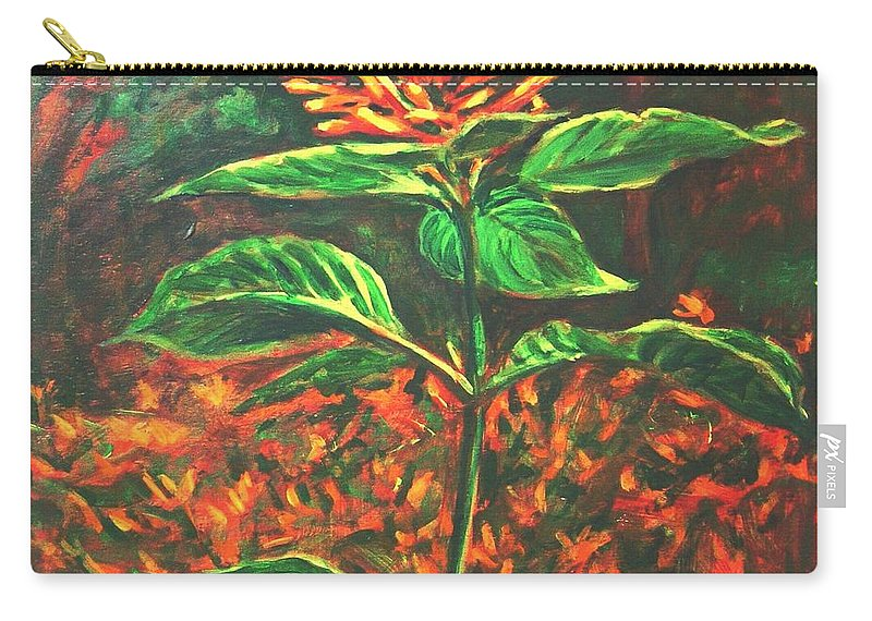 Flower Carry-all Pouch featuring the painting Flower Branch by Usha Shantharam