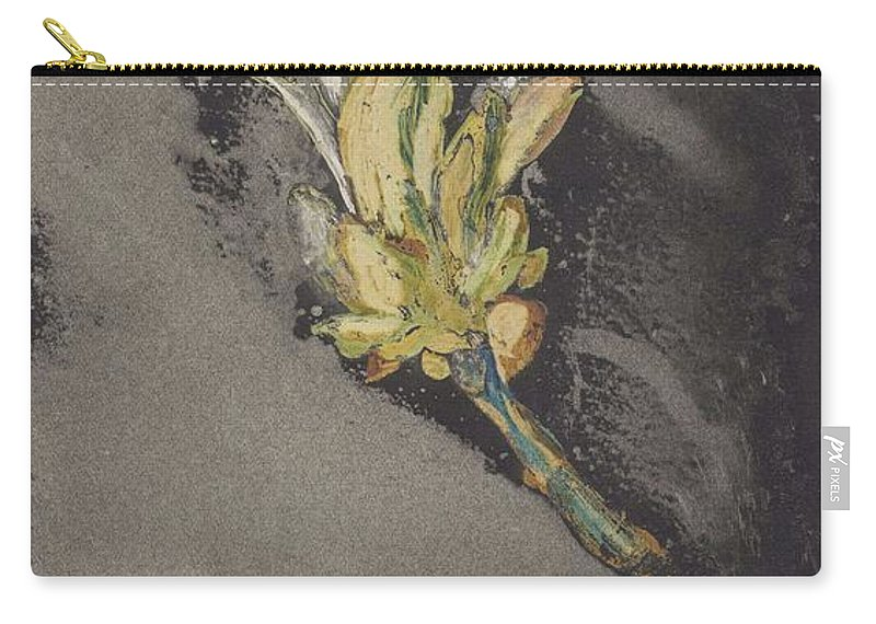 Asian Carry-all Pouch featuring the painting Flower, Carel Adolph Lion Cachet, 1874 - 1945 by Carel Adolph Lion Cachet