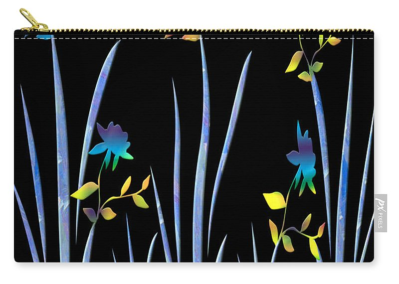 Flowers Carry-all Pouch featuring the digital art Flower Dance by Kurt Van Wagner