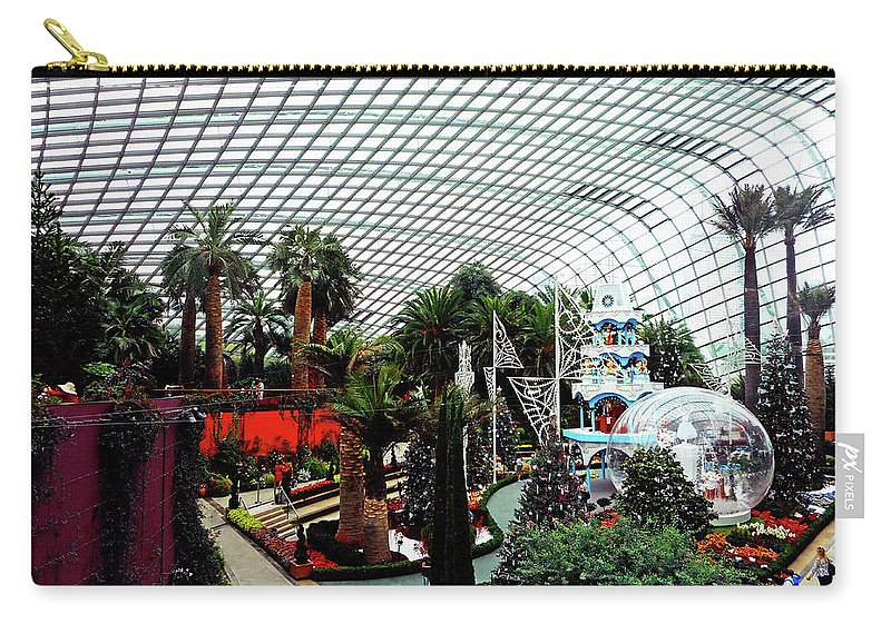 The Dooms Carry-all Pouch featuring the photograph Flower Dome 3 by Ron Kandt