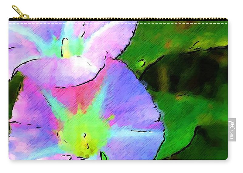 Digital Photograph Carry-all Pouch featuring the photograph Flower Drawing by David Lane