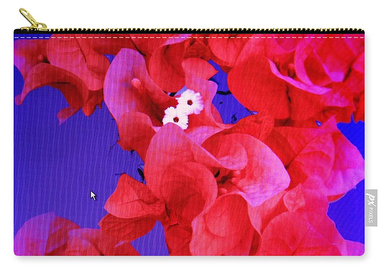Red Carry-all Pouch featuring the photograph Flower Fantasy by Ian MacDonald
