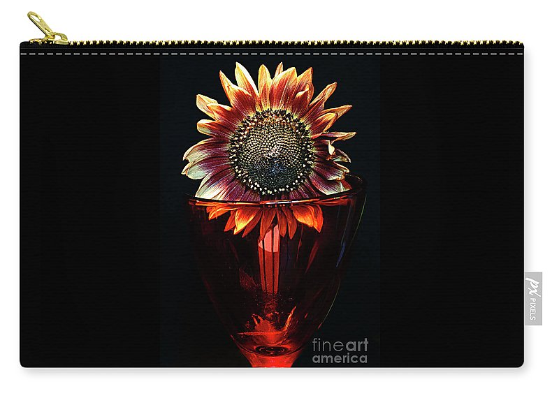 Sunflower Carry-all Pouch featuring the photograph Flower For Foodie #3. by Alexander Vinogradov