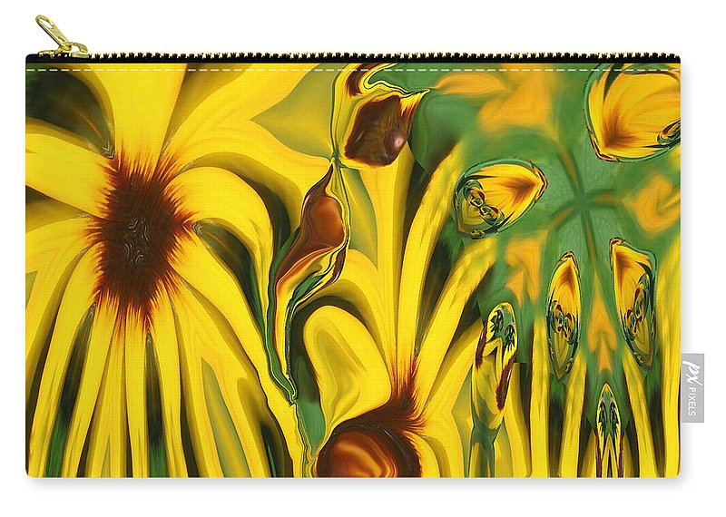 Abstract Carry-all Pouch featuring the photograph Flower Fun by Linda Sannuti