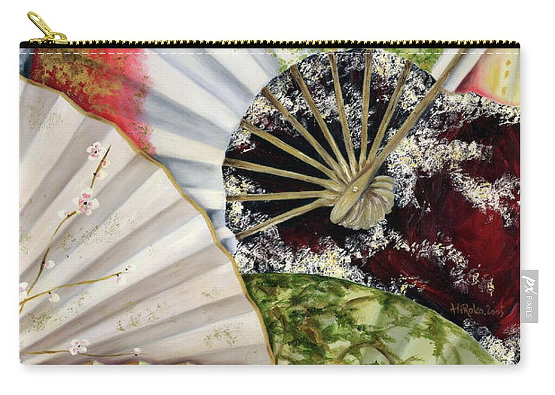Japanese Carry-all Pouch featuring the painting Flower Garden by Hiroko Sakai