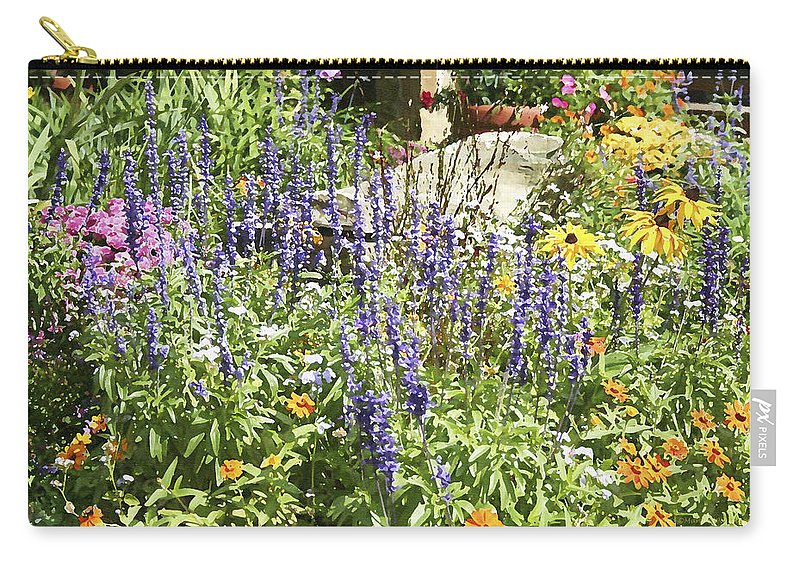 Flower Carry-all Pouch featuring the photograph Flower Garden by Margie Wildblood