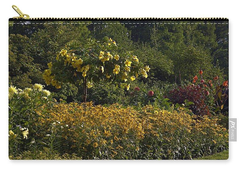 Flower Garden Carry-all Pouch featuring the photograph Flower Garden by Sally Weigand