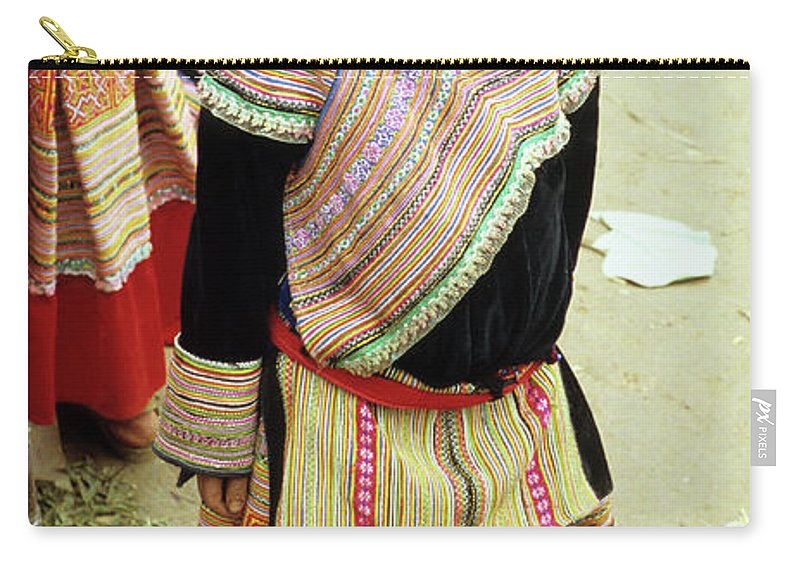 Vietnam Carry-all Pouch featuring the photograph Flower Hmong Girl 04 by Rick Piper Photography