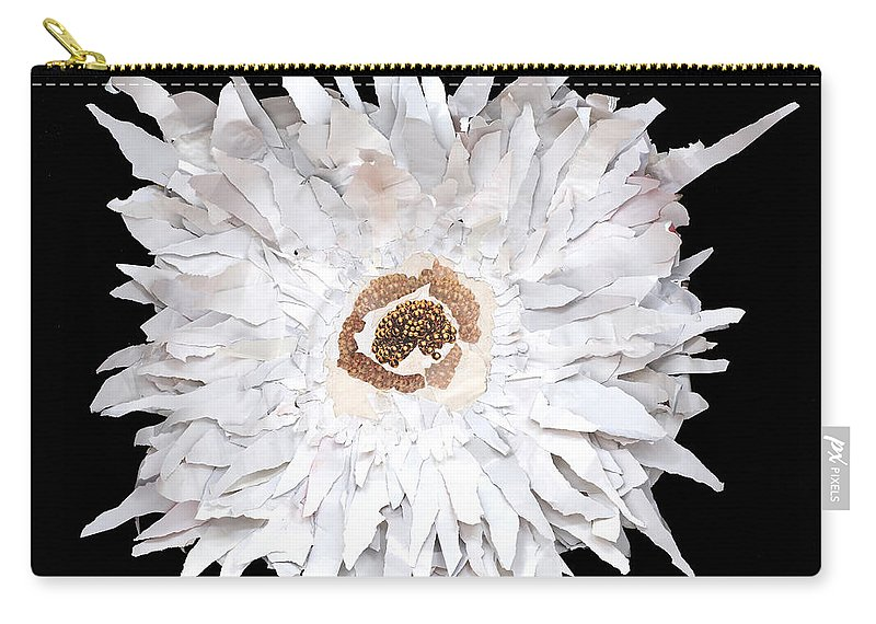 Flower Carry-all Pouch featuring the mixed media Flower by Jaime Becker
