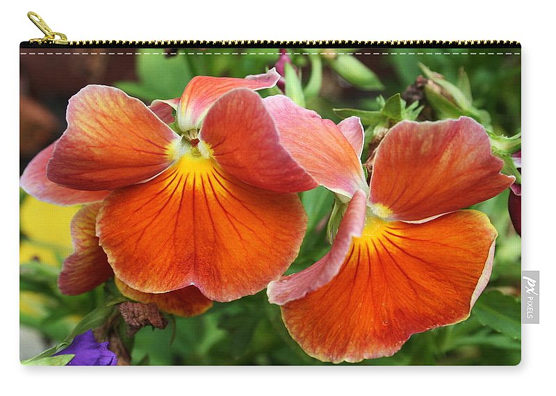 Flowers Carry-all Pouch featuring the photograph Flower Lips by Linda Sannuti
