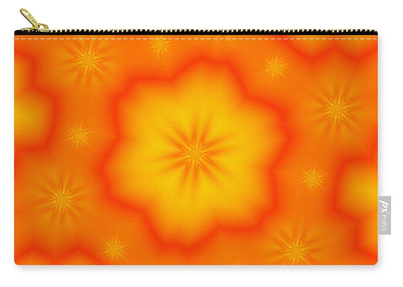 Digital Carry-all Pouch featuring the digital art Flower Mandala 5 by Salena Angel