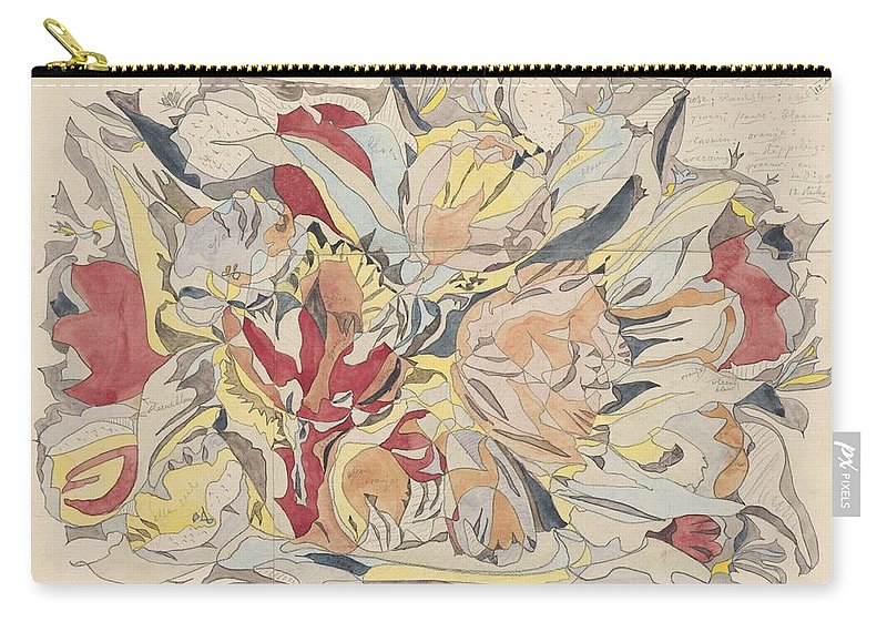 Flower Carry-all Pouch featuring the painting Flower Market, Theo Colenbrander, 1917 by Theo Colenbrander