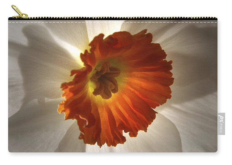 Flowers Carry-all Pouch featuring the photograph Flower Narcissus by Nancy Griswold