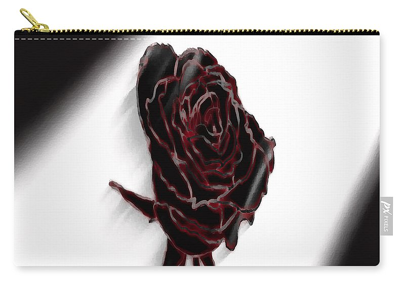 Rose Carry-all Pouch featuring the photograph Flower No.1 by Abdulaziz Butaiban