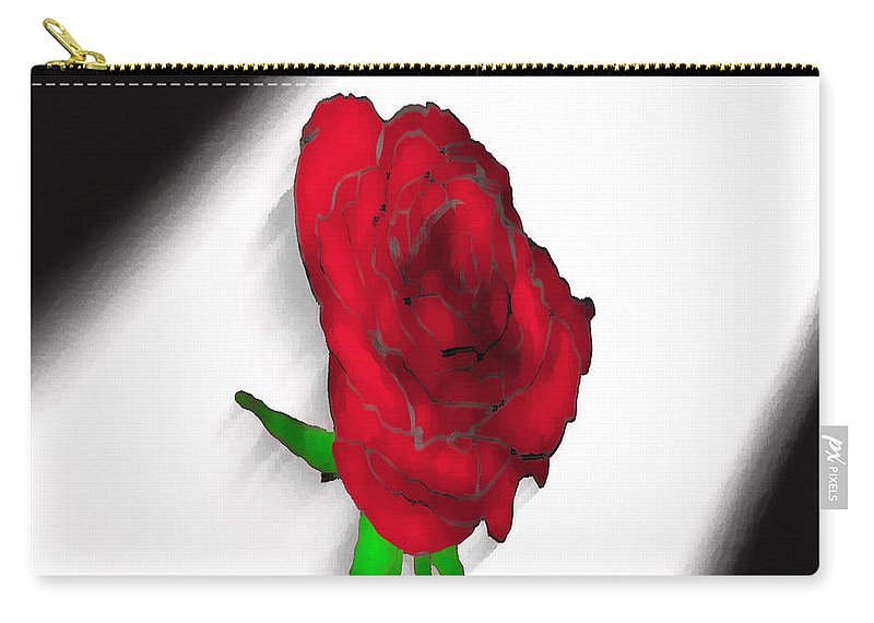 Rose Carry-all Pouch featuring the photograph Flower No.4 by Abdulaziz Butaiban