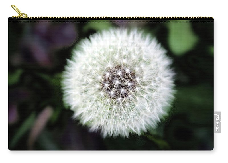 Weed Carry-all Pouch featuring the photograph Flower Of Flash by Mark Ashkenazi