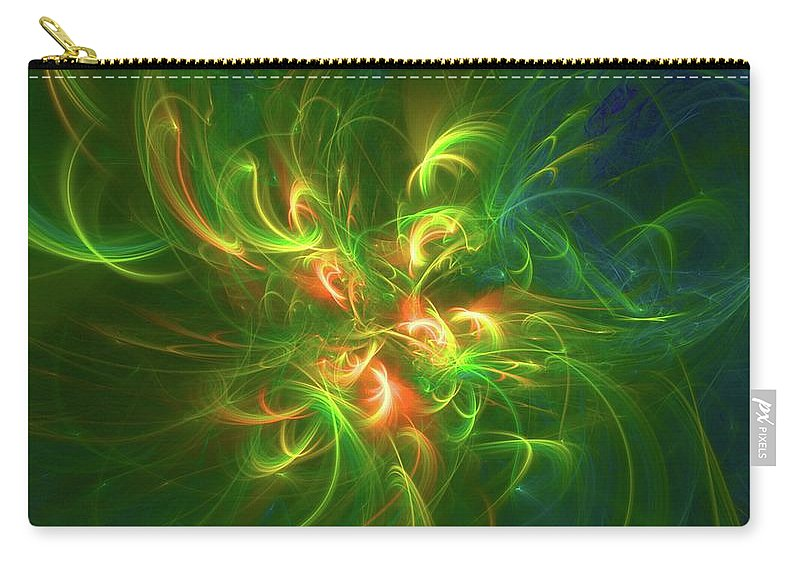 Pattern Carry-all Pouch featuring the digital art Flower Of Light by Esoterica Art Agency