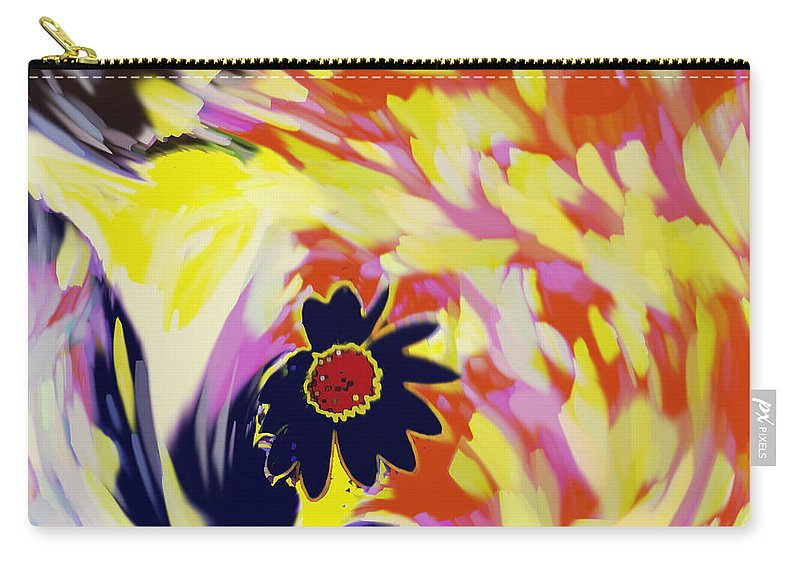Flower Carry-all Pouch featuring the digital art Flower On The Beach by Ian MacDonald