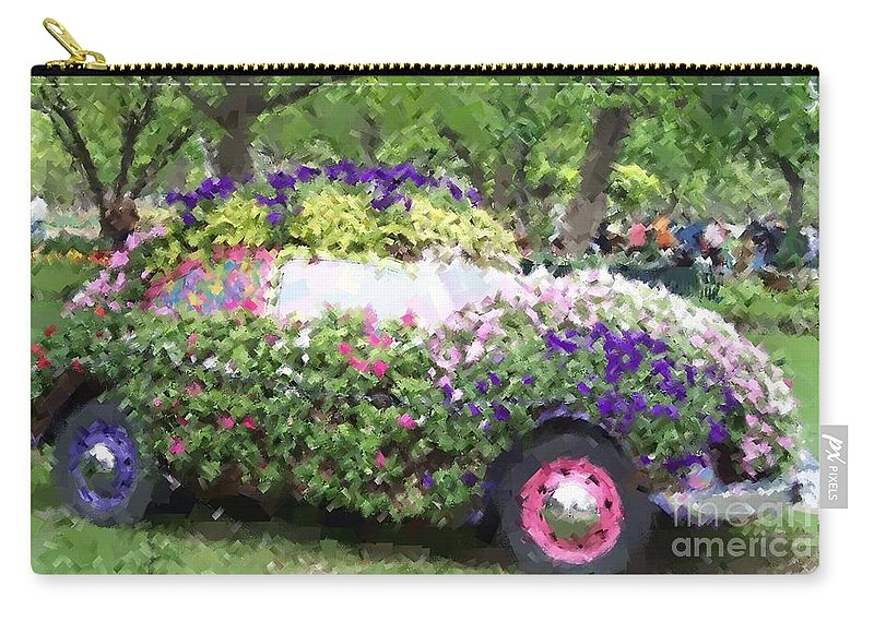 Cars Carry-all Pouch featuring the photograph Flower Power by Debbi Granruth