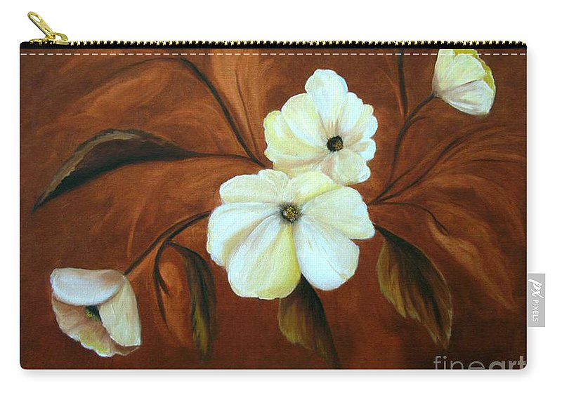 Flowers Carry-all Pouch featuring the painting Flower Study by Carol Sweetwood